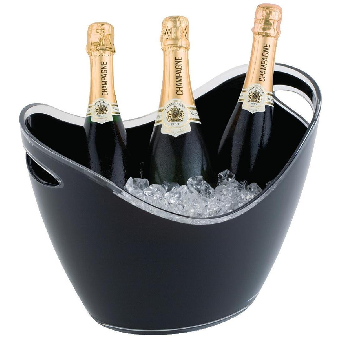 APS Black Acrylic Wine And Champagne Bucket Large - Each - CF311