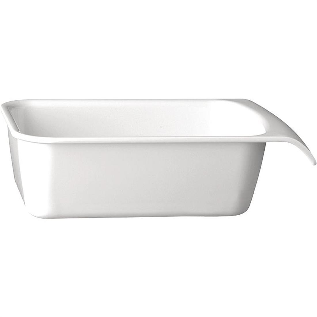 APS White 1/4GN Cascade Buffet Bowl - Each - GH402