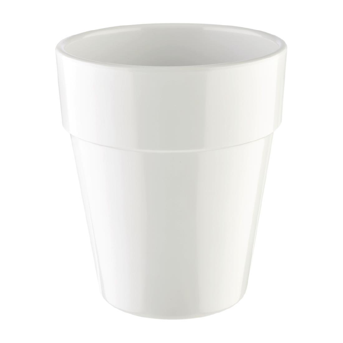APS Flowerpot 130mm White - Each - HC746