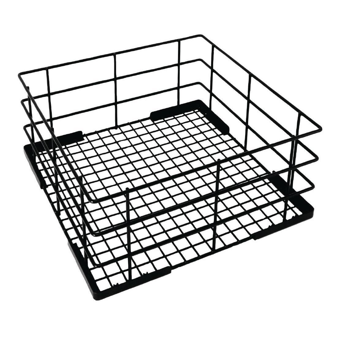 Vogue Wire High Sided Glass Basket 400mm - Each - CD243