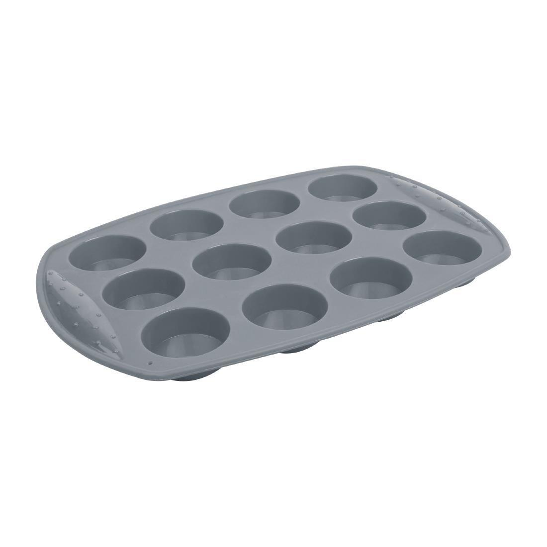 Vogue Flexible Silicone Cupcake Pan 12 Cup - Each - DA522