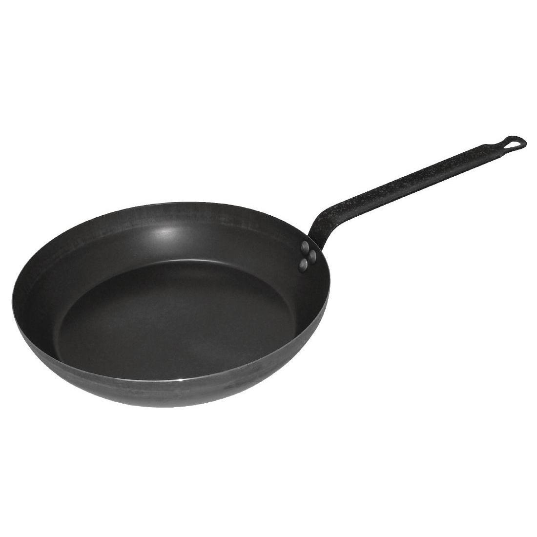 Vogue Black Iron Induction Frying Pan 350mm - Each - GD007