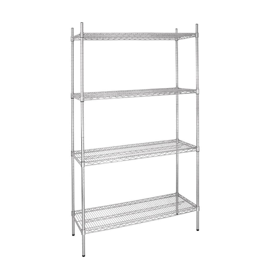 Vogue 4 Tier Wire Shelving Kit 915x460mm - L927