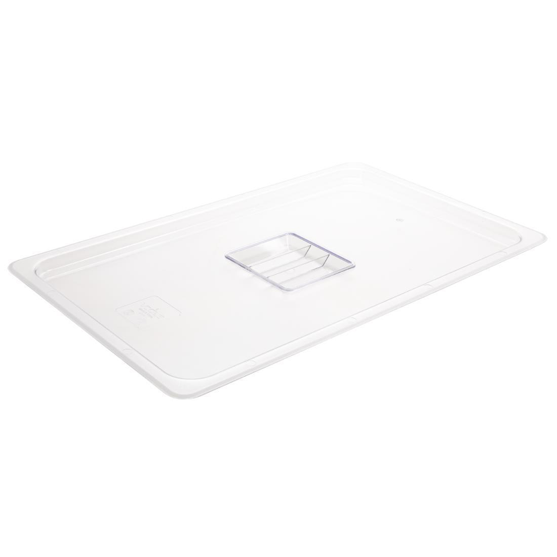 Vogue Polycarbonate 1/1 Gastronorm Lid Clear - U244