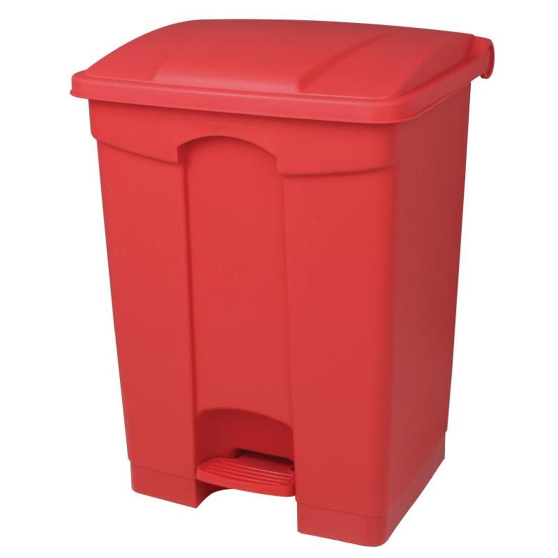 Jantex Kitchen Pedal Bin Red 65Ltr