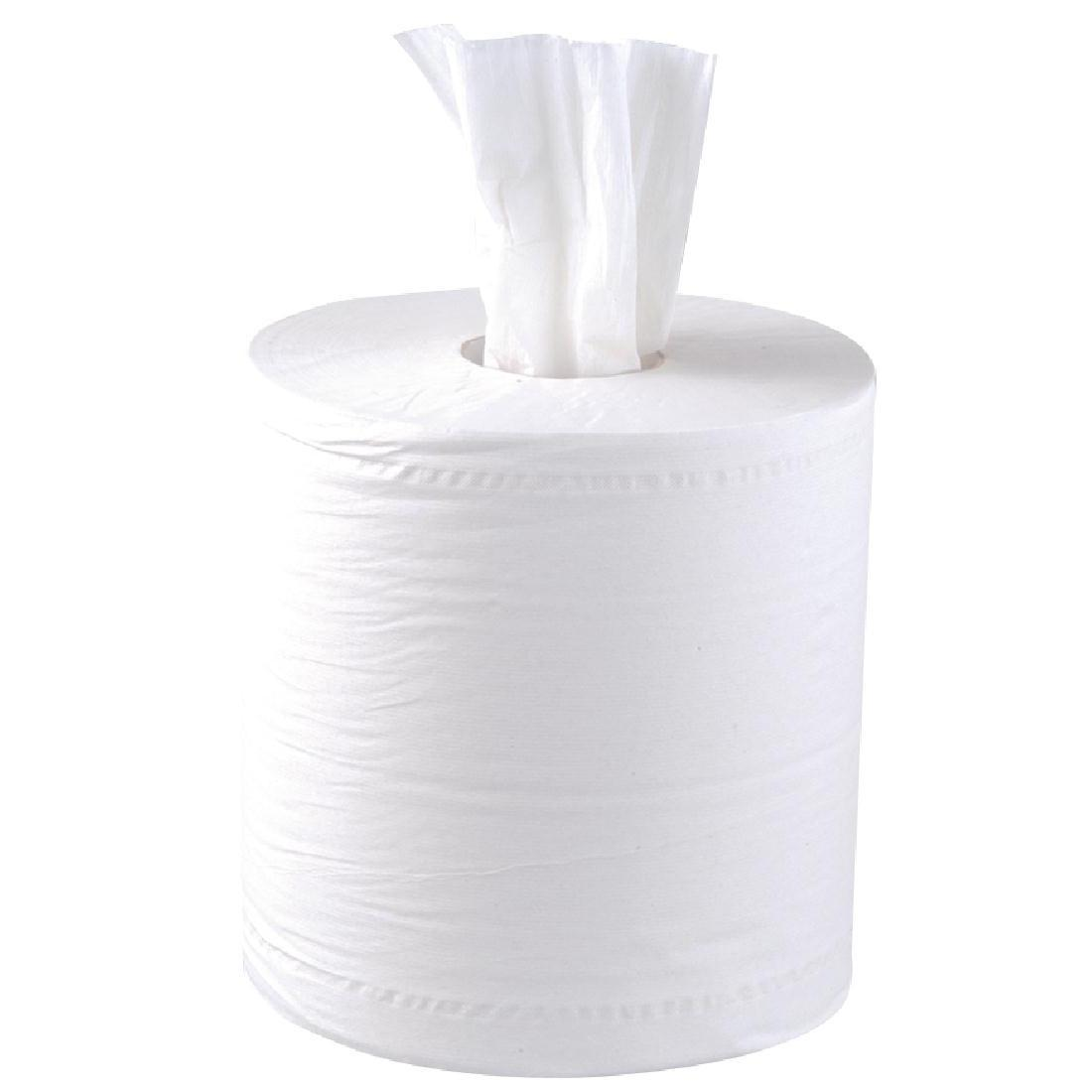 Jantex Centrefeed White Rolls 2ply 6 Pack