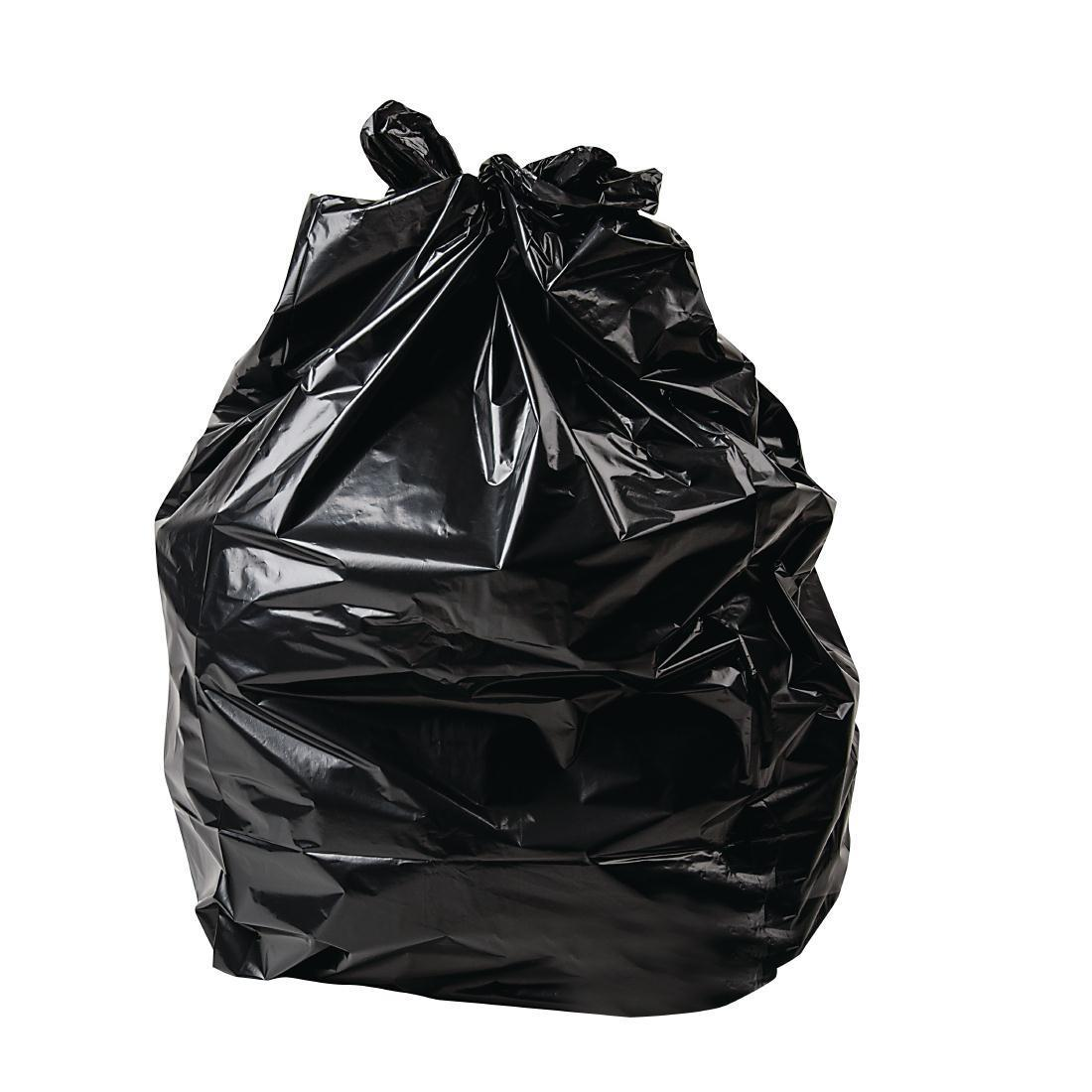Jantex Large Extra Heavy Duty Black Bin Bags 90Ltr