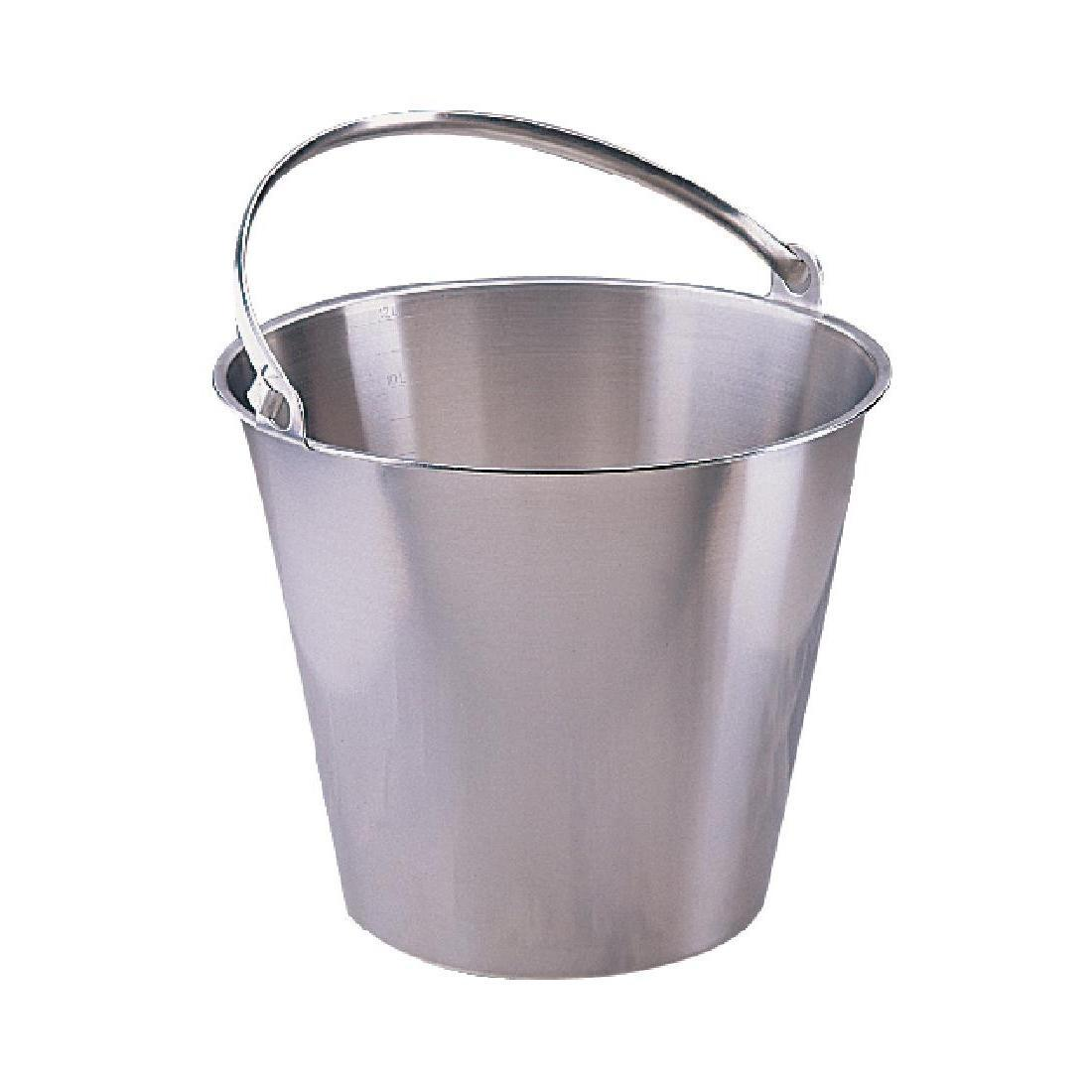 Jantex Stainless Steel Bucket 12Ltr