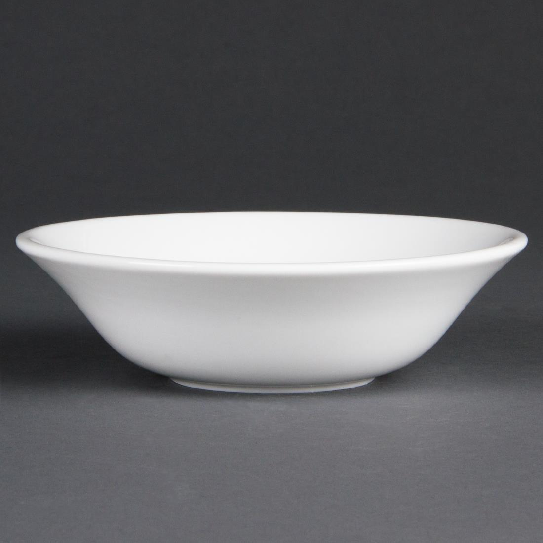 Olympia Whiteware Oatmeal Bowls 150mm