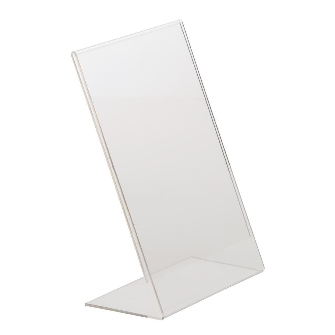 Slanted Acrylic Menu Holder A5