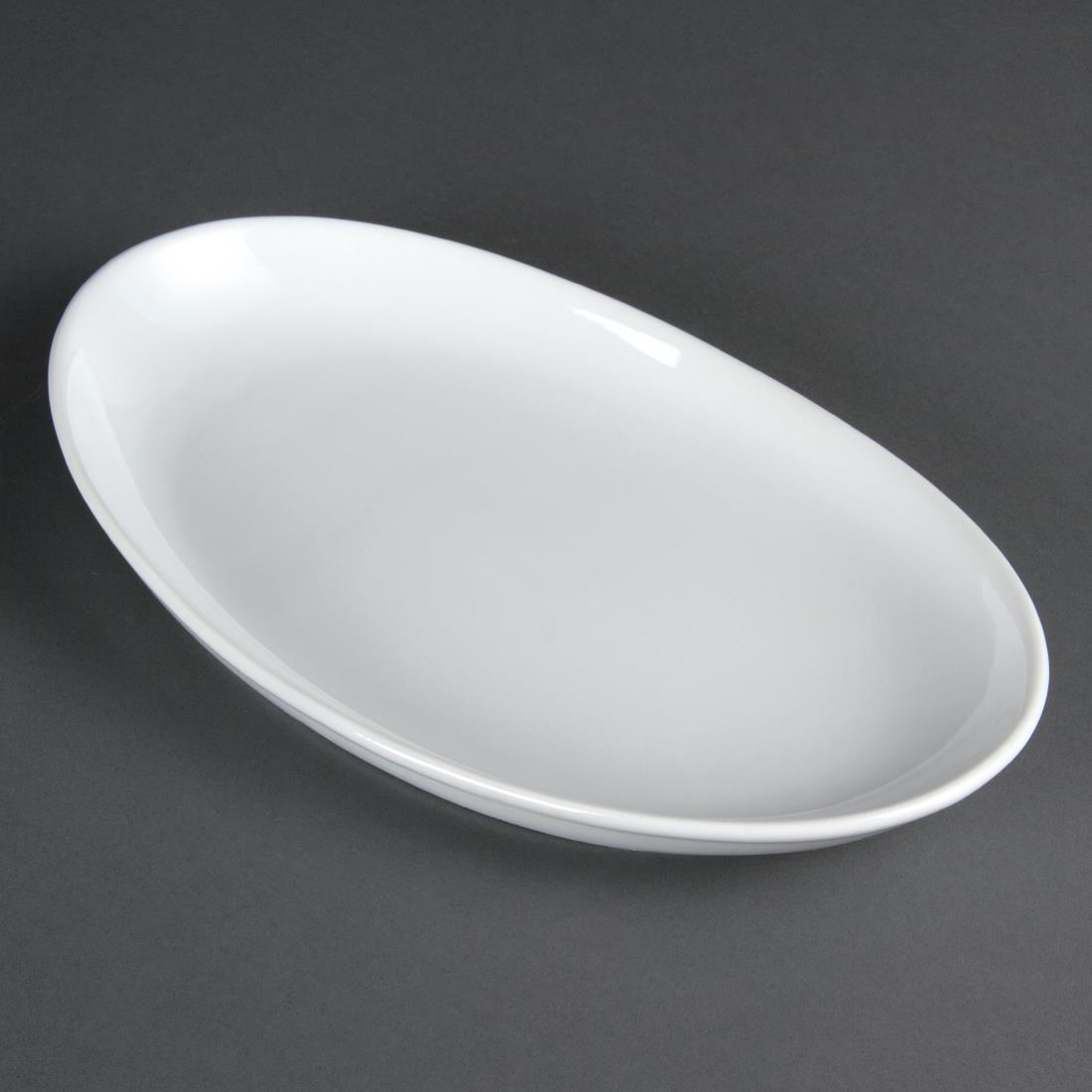 Olympia French Deep Oval Plates 304mm