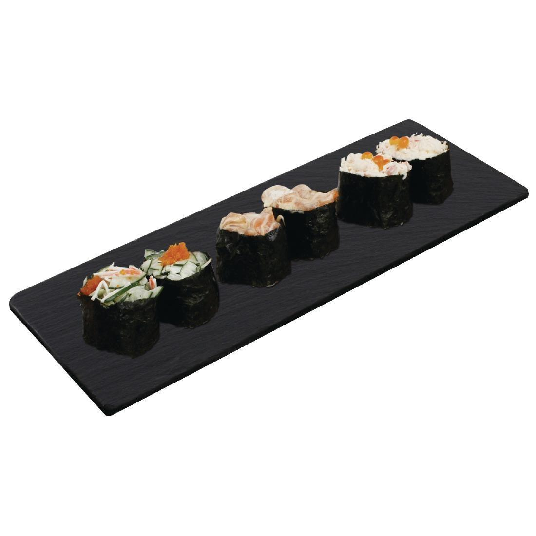 Olympia Smooth Edged Slate Platters 280 x 100mm