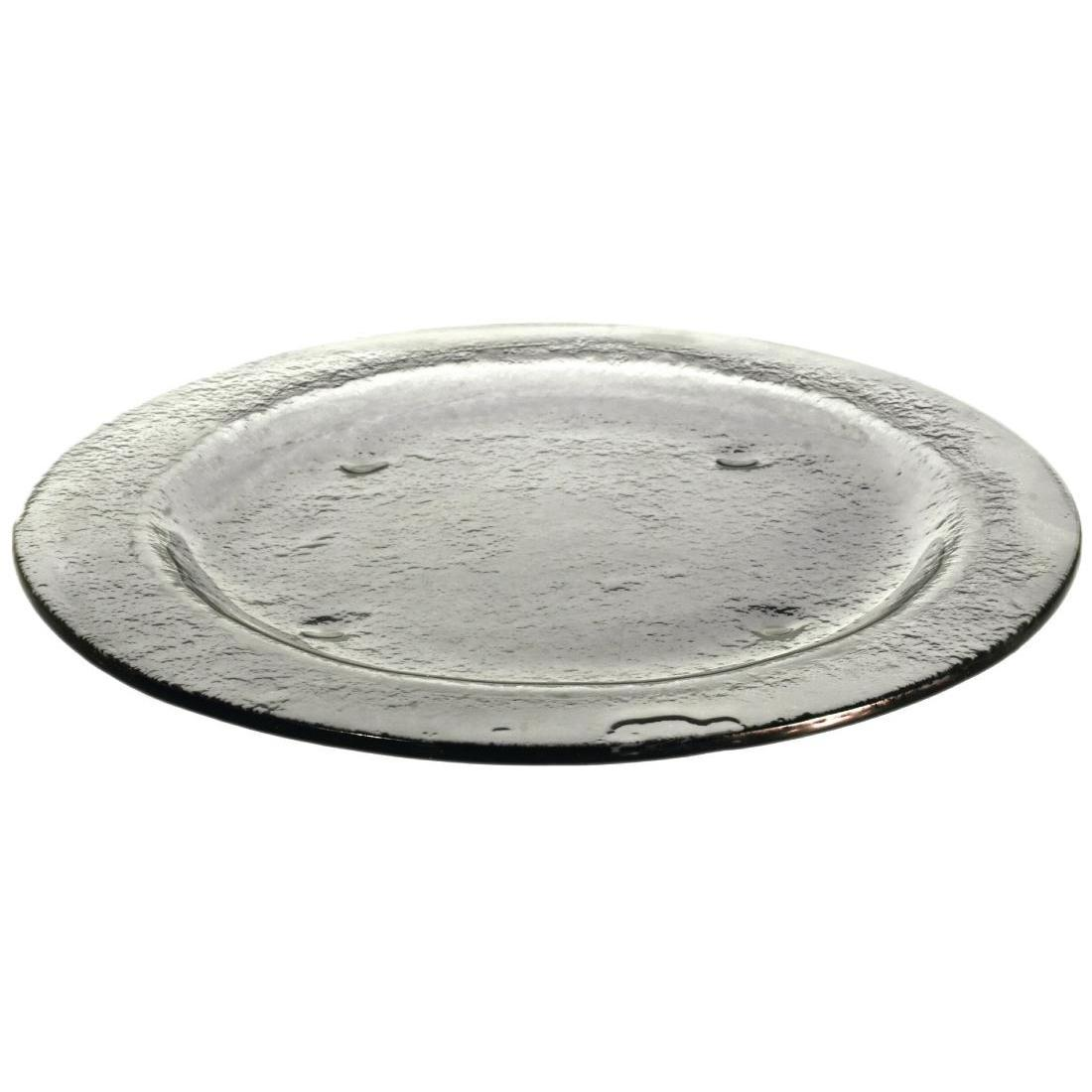 Olympia Round Glass Plates Smoke Grey 270mm