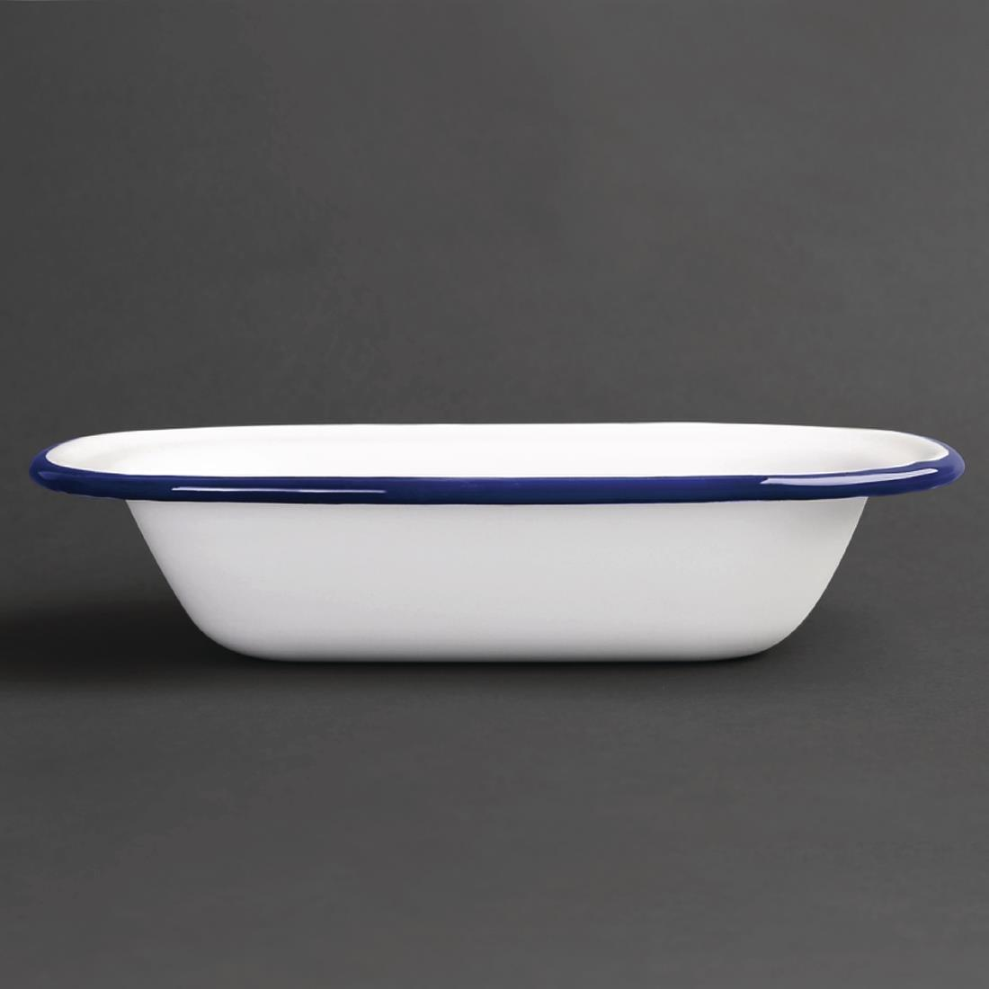 Olympia Enamel Pie Dishes Rectangular 180 x 135mm