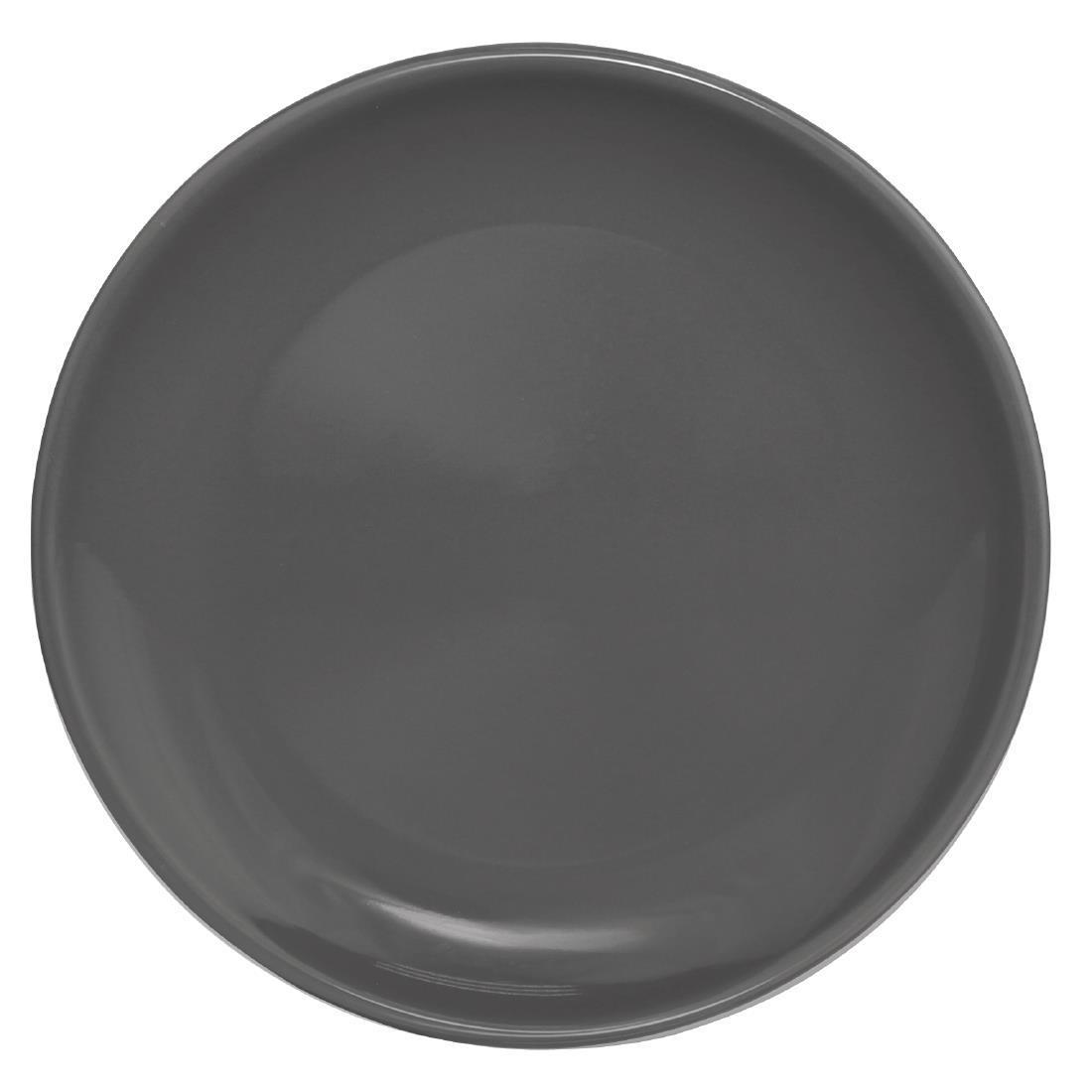 Olympia Cafe Coupe Plate Charcoal 250mm