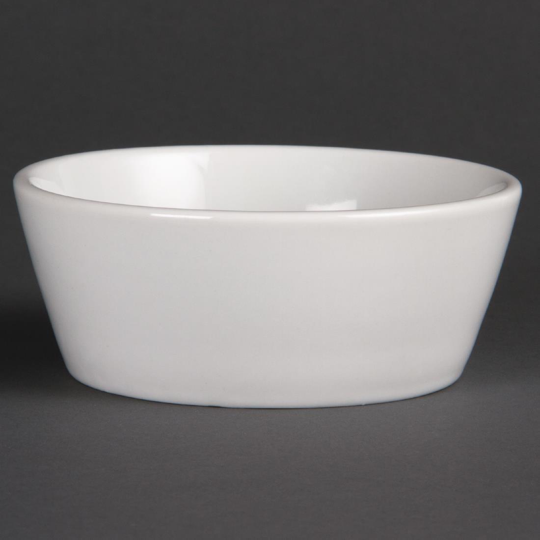 Olympia Whiteware Sloping Edge Bowls 120mm
