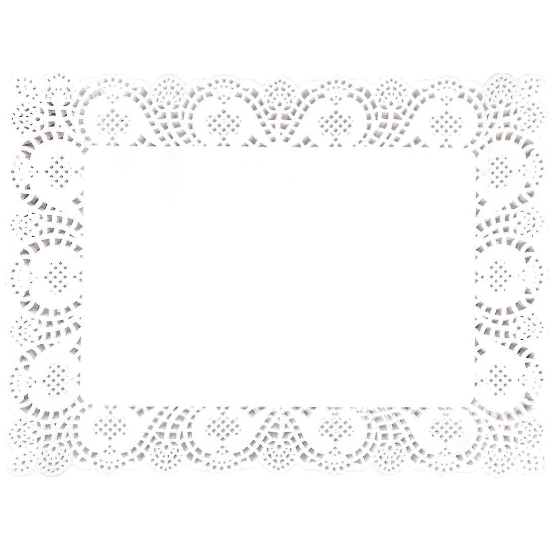 Fiesta Rectangular Paper Doilies 400mm