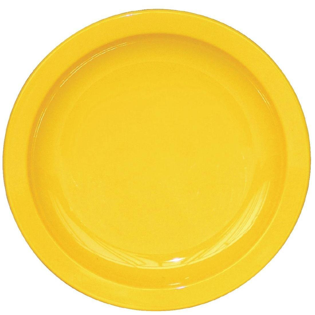 Kristallon Polycarbonate Plates Yellow 172mm - Case 12 - CB763