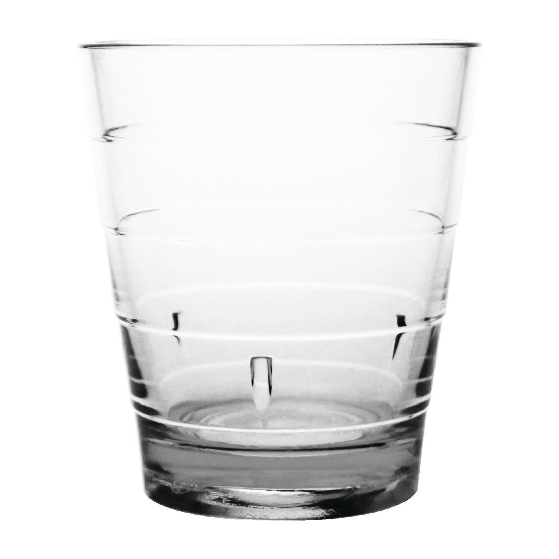 Kristallon Polycarbonate Ringed Tumbler Clear 285ml - Case 6 - DC920