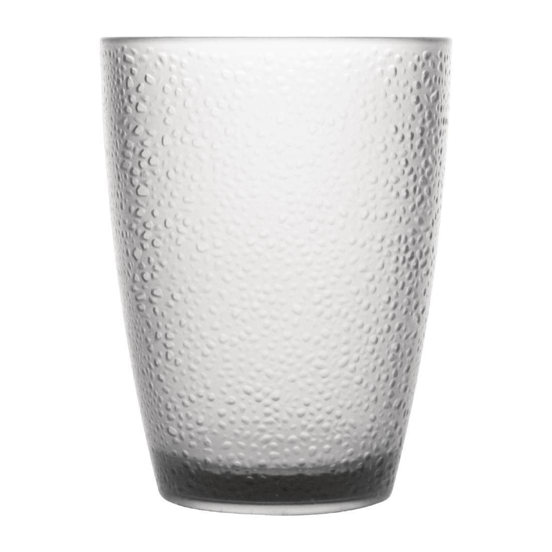 Kristallon Polycarbonate Tumbler Pebbled Clear 275ml - Case 6 - DC928