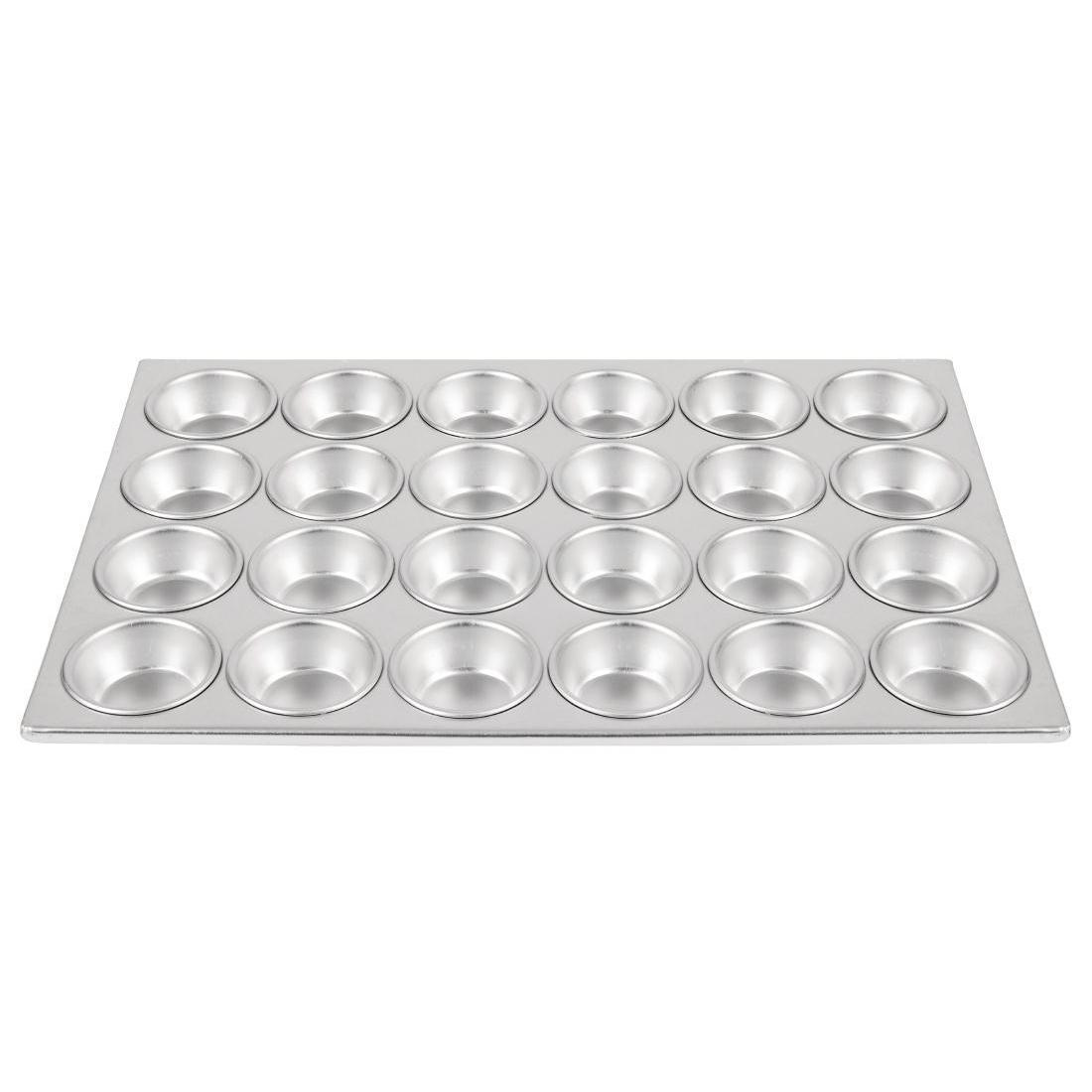 Vogue Aluminium Muffin Tray 24 Cup - Each - C563