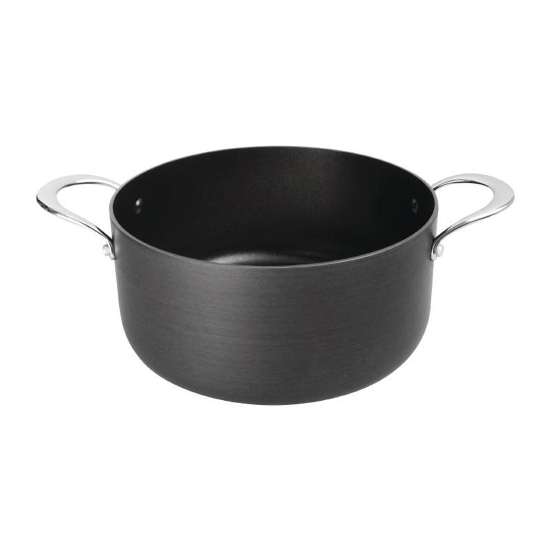 Vogue Anodised Aluminium Non Stick Casserole Pan 240mm - Each - CN950