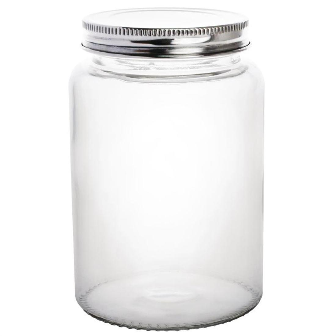 Vogue Glass Screw Top Preserving Jar 550ml - Case 6 - CP083