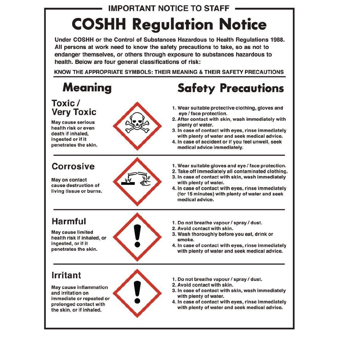 Vogue COSHH Regulations Sign - L903