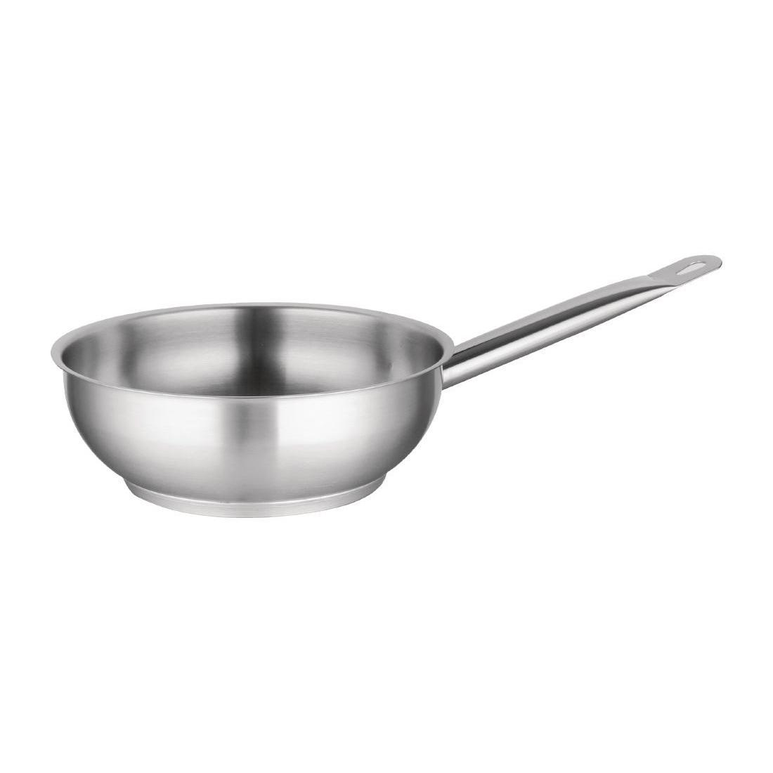 Vogue Stainless Steel Saute Pan 240mm - M923