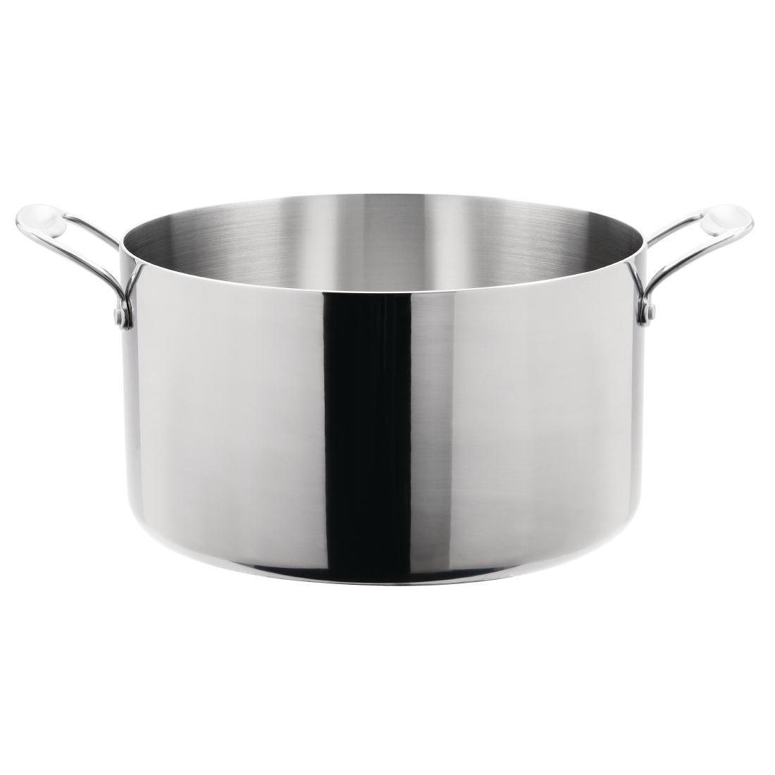 Vogue Tri Wall Stew Pan 9.5Ltr - Y256