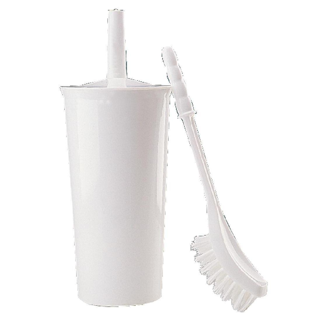 Jantex Toilet Brush and Holder White