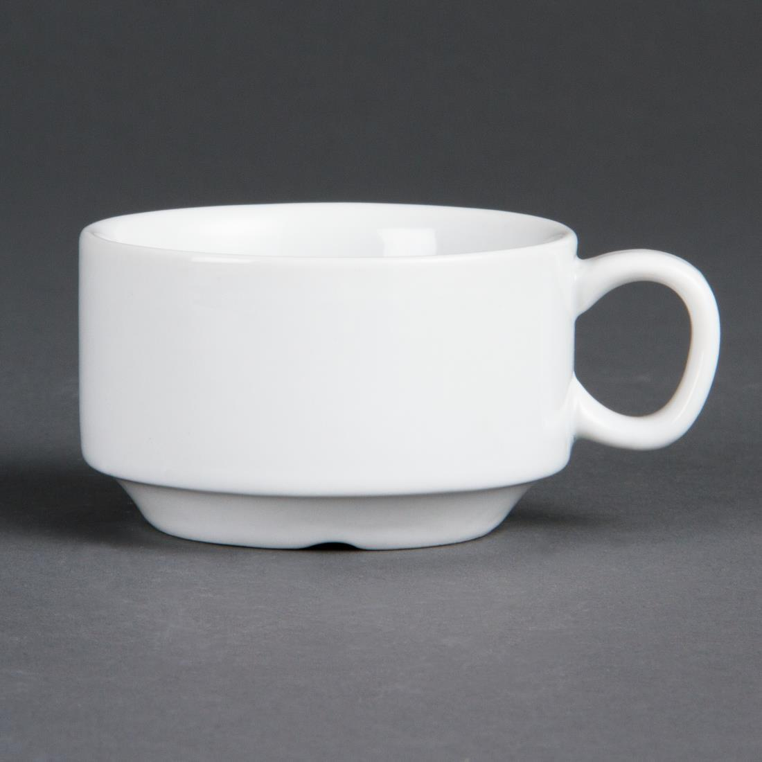 Olympia Whiteware Stacking Espresso Cups 85ml 3oz