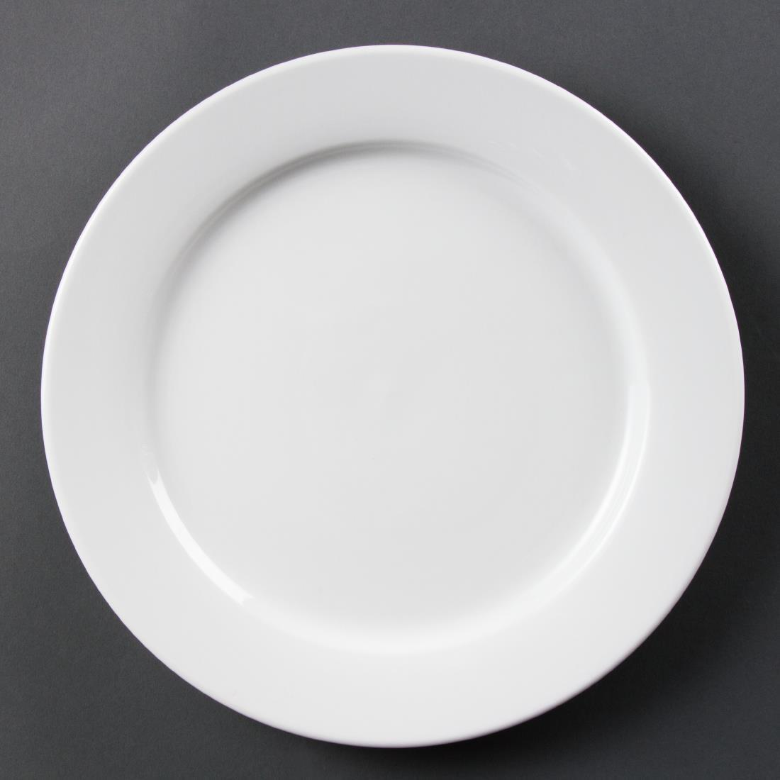 Olympia Whiteware Wide Rimmed Plates 280mm