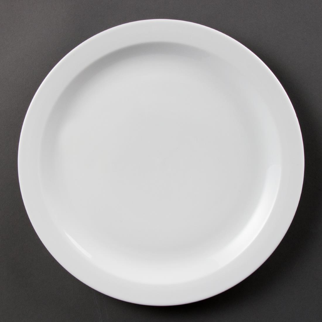Olympia Whiteware Narrow Rimmed Plates 280mm
