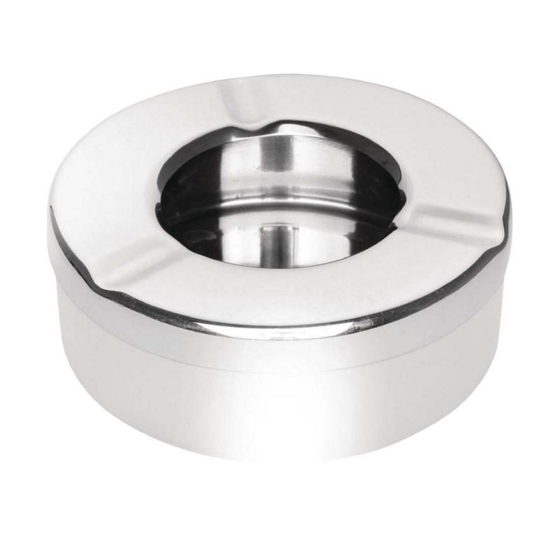 Olympia Stainless Steel Windproof Ashtray 90mm
