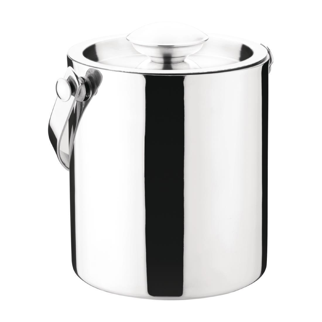 Olympia Double Walled Ice Bucket with Lid 1Ltr