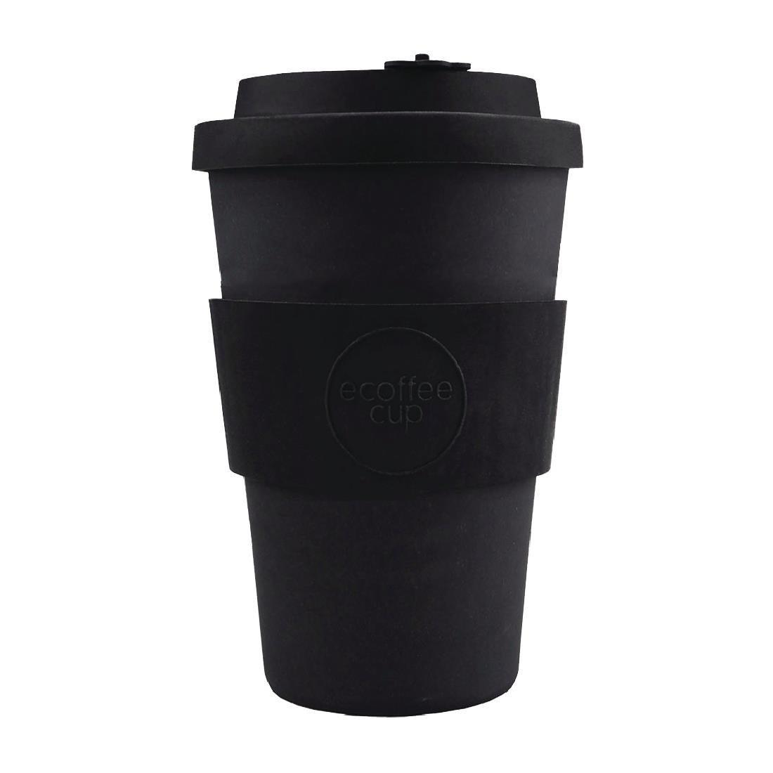 Ecoffee Cup Bamboo Reusable Coffee Cup Kerr & Napier Black 14oz - Each - DY493