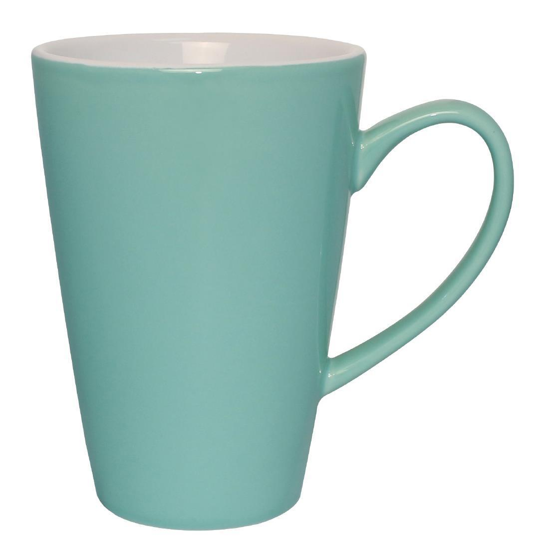 Olympia Cafe Latte Cups Aqua 340ml
