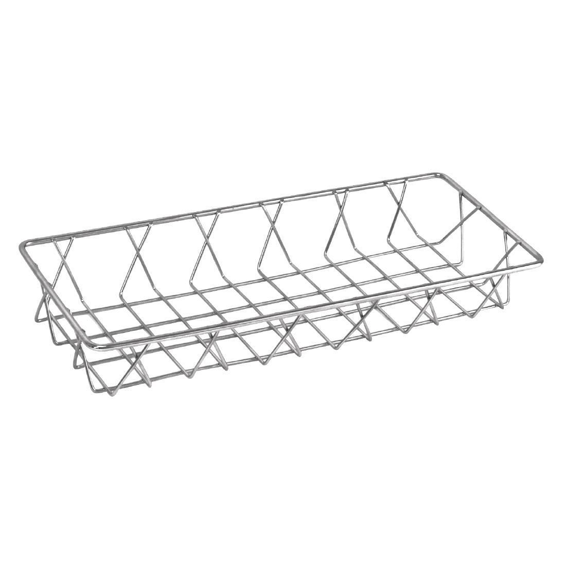 Olympia St/St Wire Display Basket 350 x 150 x 50mm