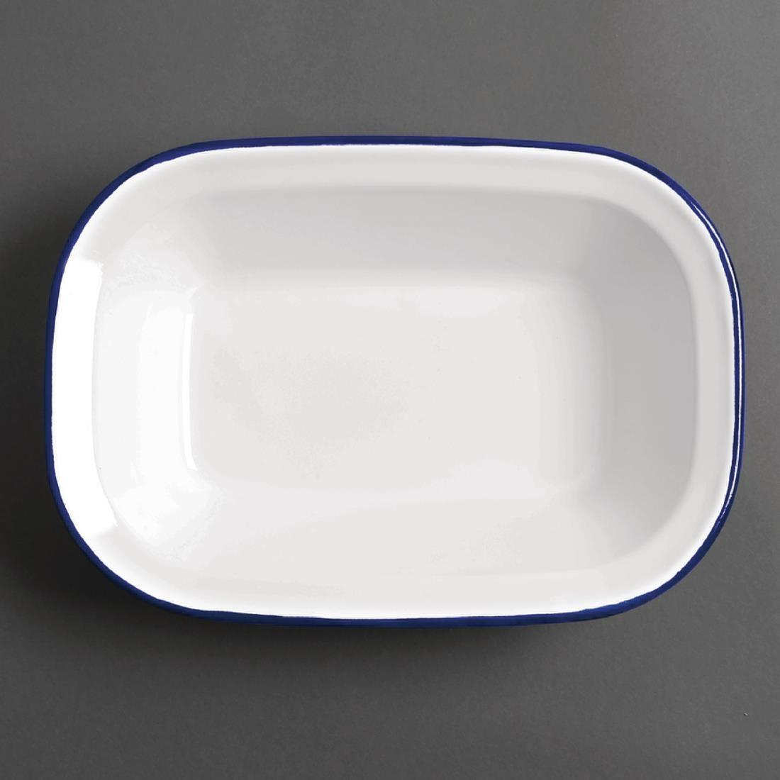 Olympia Enamel Dishes Rectangular 280 x 190mm