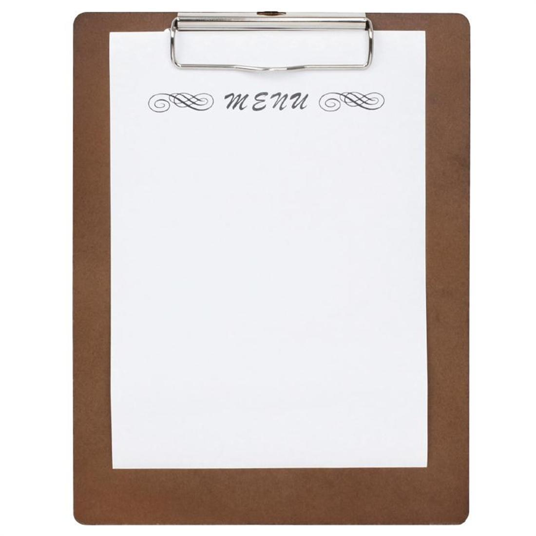 Special Offer Wooden Menu Presentation Clipboard A5 x10