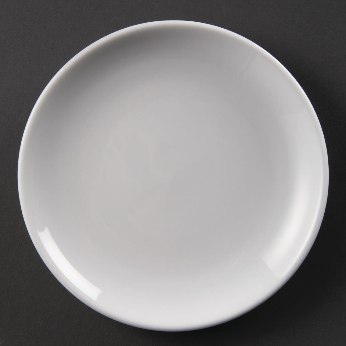 Olympia Whiteware Coupe Plates 180mm