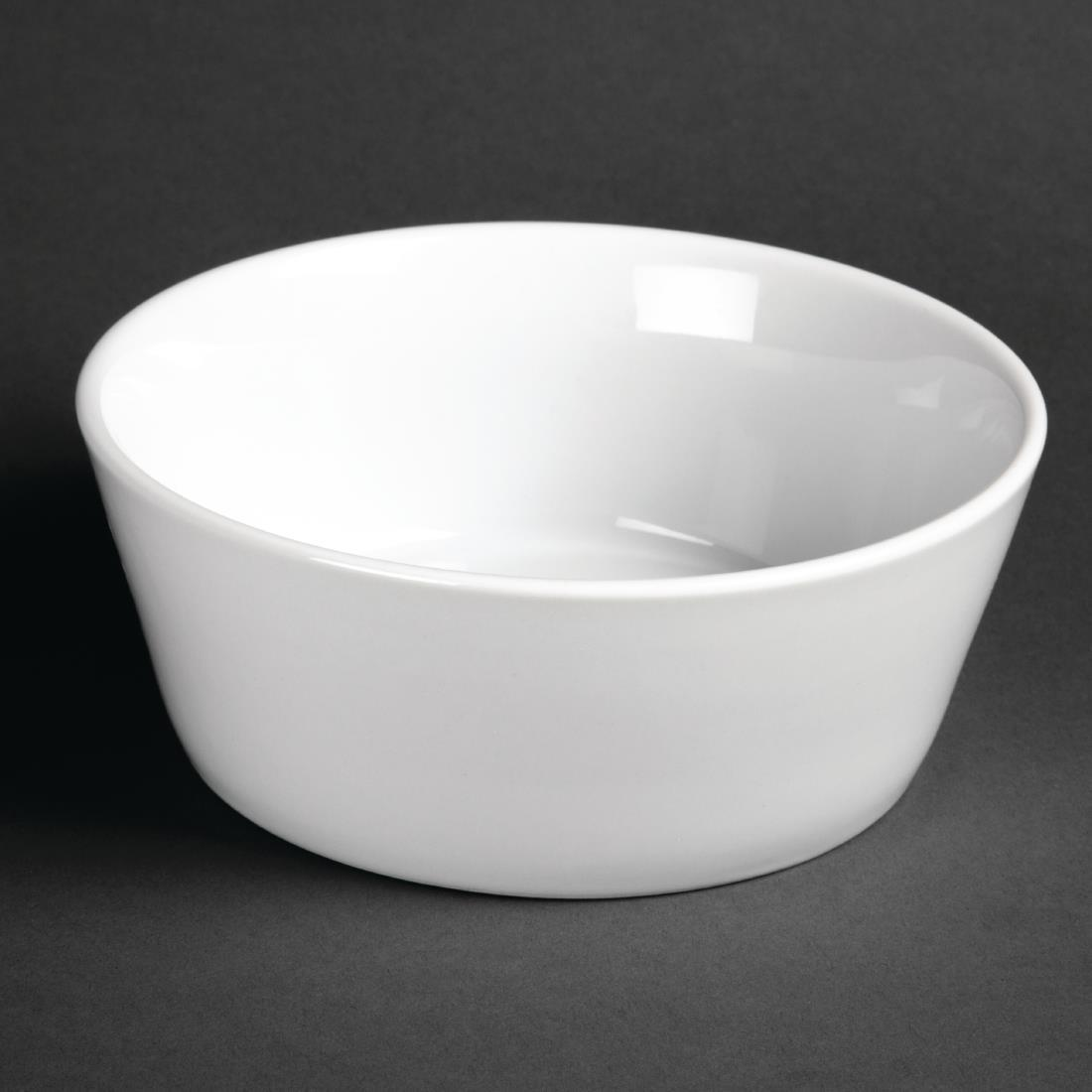 Olympia Whiteware Sloping Edge Bowls 150mm
