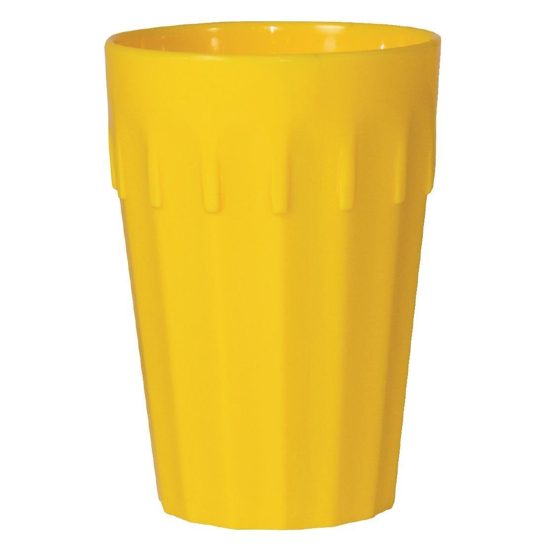 Kristallon Polycarbonate Tumblers Yellow 142ml - Case 12 - CE270