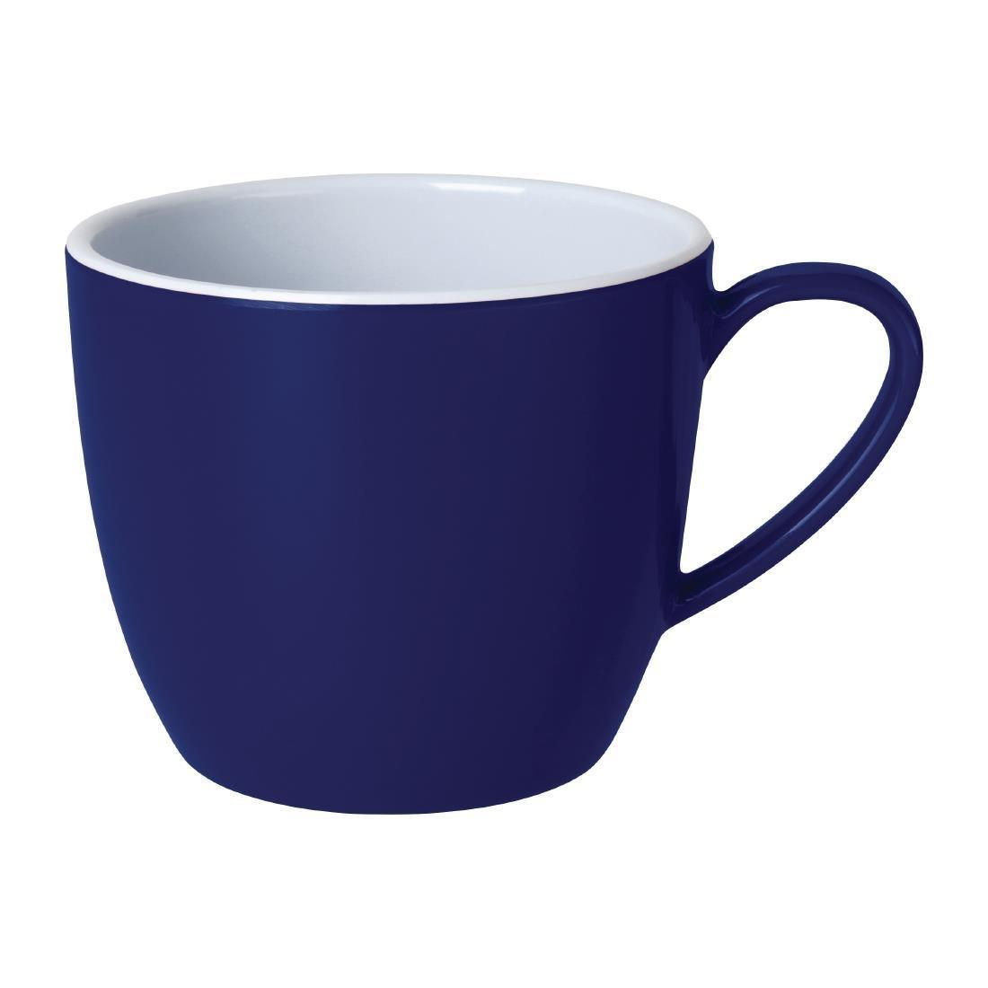 Kristallon Gala Colour Rim Melamine Mug Blue 285ml - Case 6 - DE609