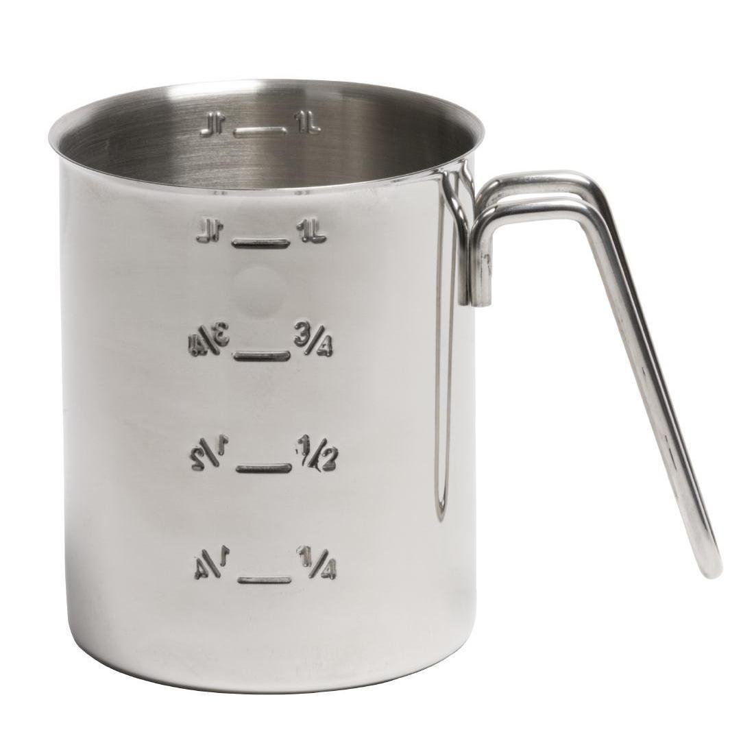 Graduated Stainless Steel Measuring Jug 1Ltr - Each - CC402