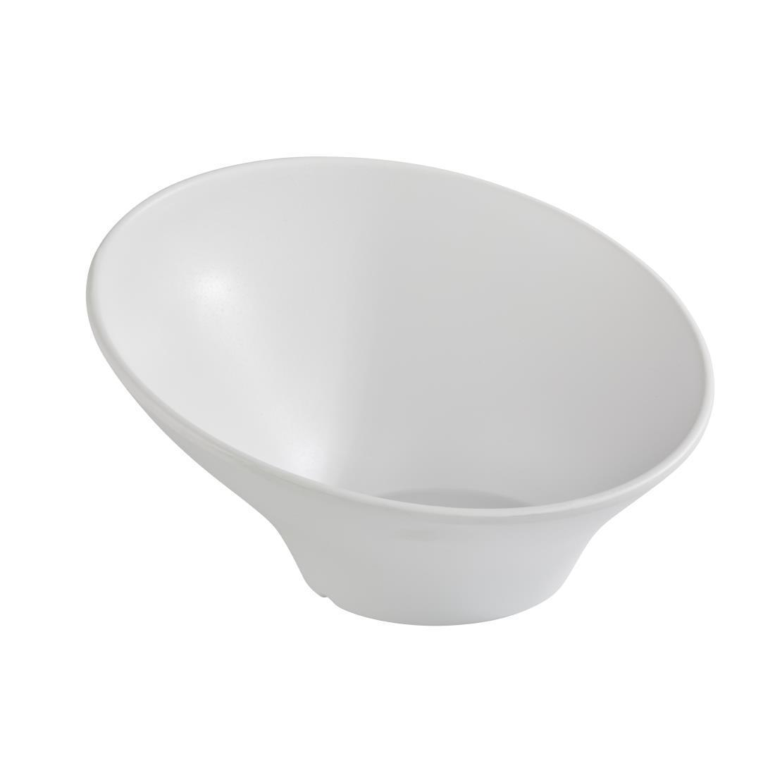 APS Zen Melamine Round Sloped Bowl White 800ml - Each - DA292