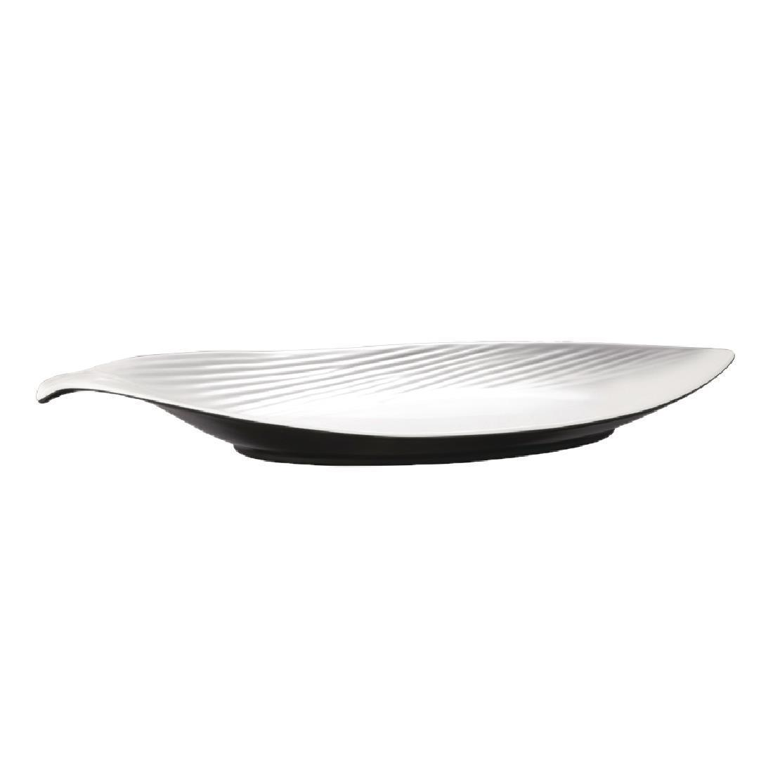APS Dual Tone Leaf Platter 18in - Each - GL636