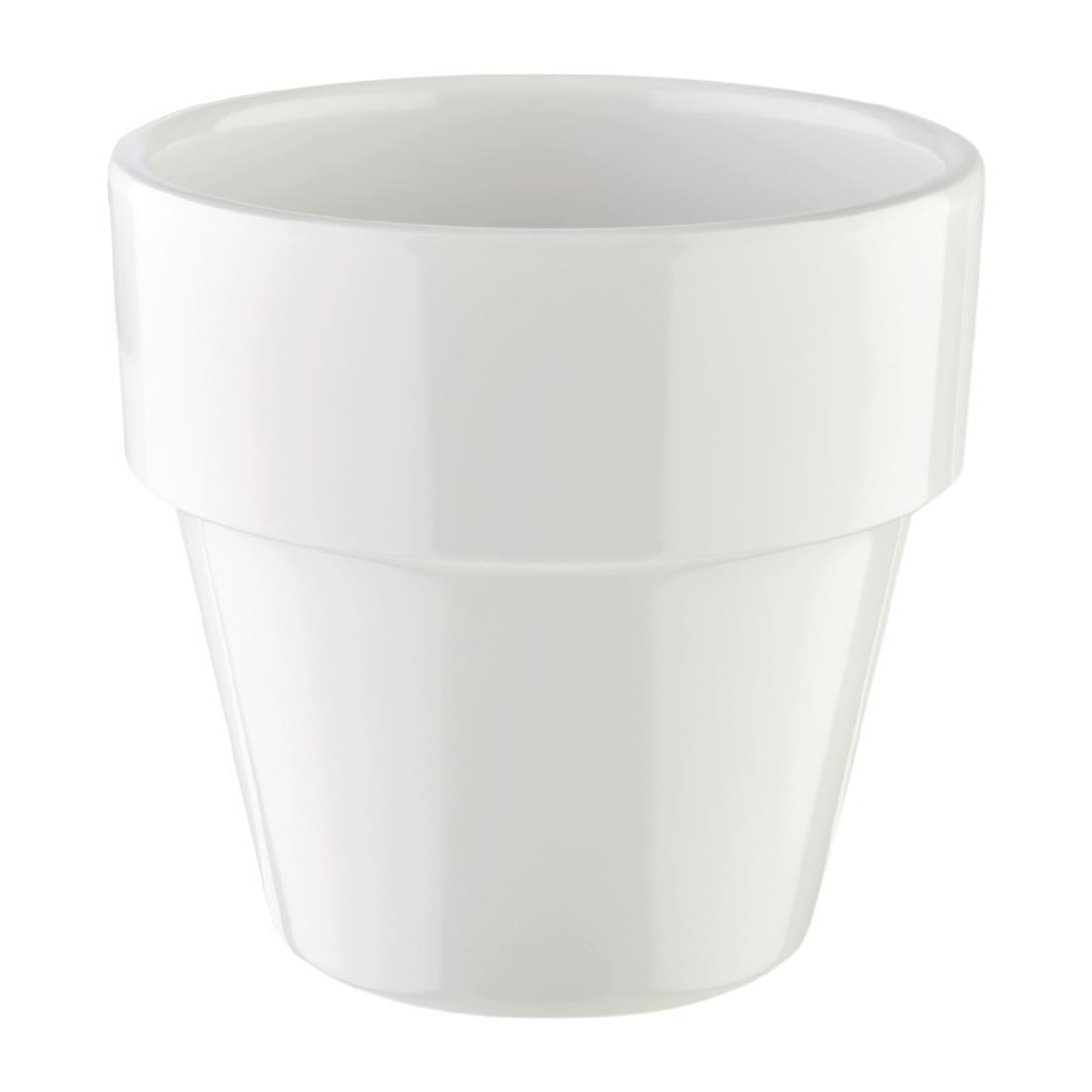 APS Flowerpot 90mm White - Each - HC740
