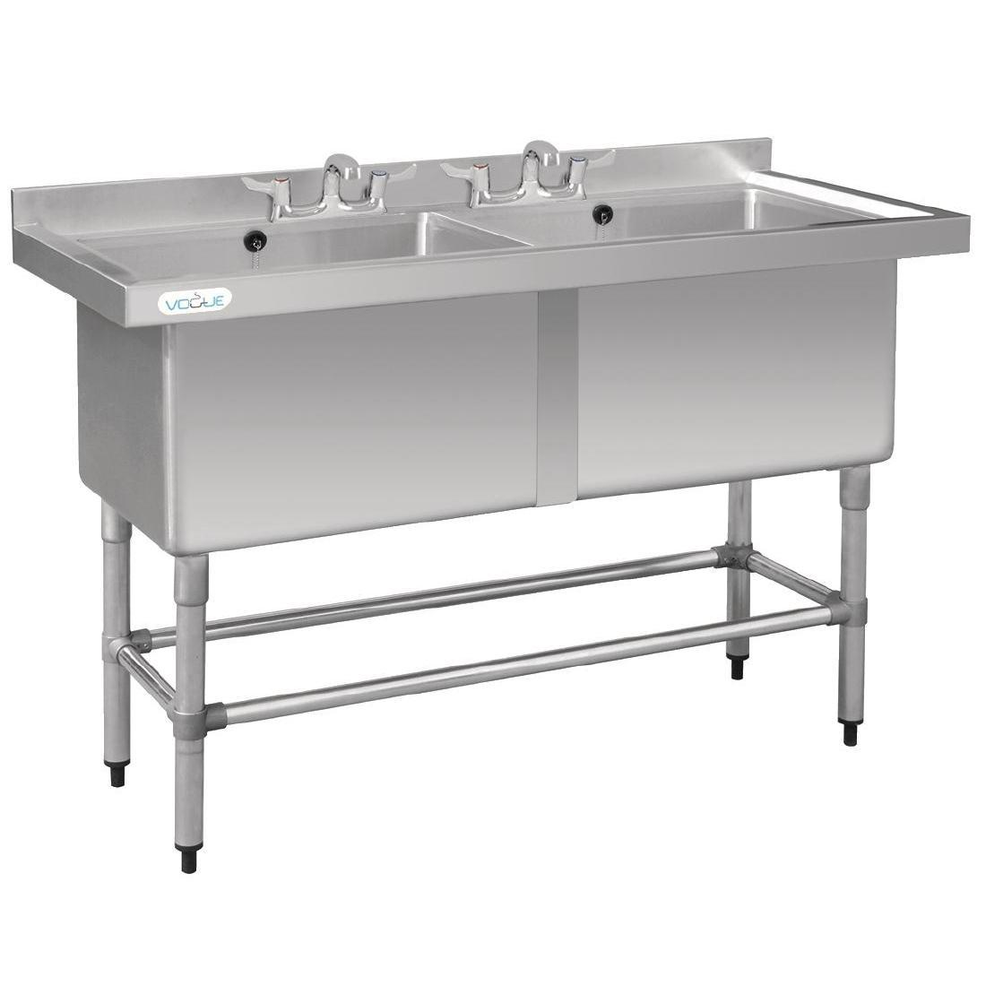 Vogue Double Deep Pot Sink - Each - CF406